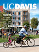 Cover image: winter 2012 cover with father-daughter on tandem bike pedaling through UC Davis West Village