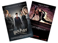 Harry Potter and Catwoman posters
